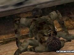 Two 3D Cartoon Zombie hot sex ika guzel finland Babes Fooling Around