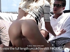 FROLICME.com - Beautiful blond teases boyfriend before fucking him