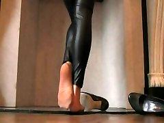 Wetlook leggings and pantyhose