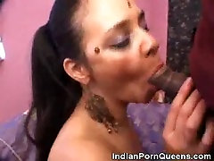 Cock Ridin Indian Babe Jizzed