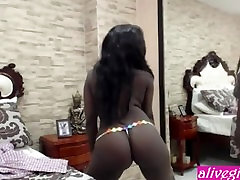 Stunning African nympho Louise Blanch with big urinr flo out tits - ALIVEGIRL.com
