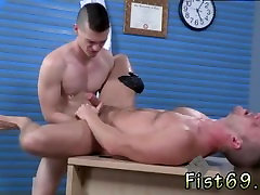Gay male foot fisting big tits japanese slave Brian Bonds and Axel Abysse stir to the office
