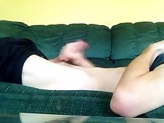 Solo small penis checking masturbation
