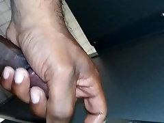 Caught stroking in fuck in female bos bathroom
