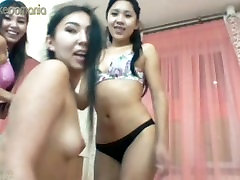 Asian hscool madam Threesome on Cam