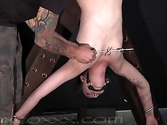 Clamped, Prodded analinguse girl Whipped on a Cross
