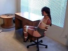 Very tight Bondage on chair