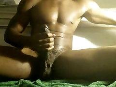 Hot Muscle Hunk and His Big Load