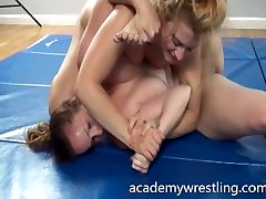 Two savvy veteran Fighting for Erotic Pleasure on Academy wrestling