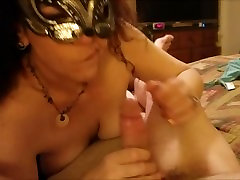 Wife brings Husband to Sexual Bliss with a Cum Shot to prove it
