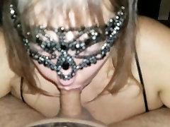 Huge Natural Tits Surround Cock During Blowjob