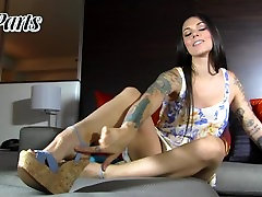 POV Kayla Jane Danger Dildo Foot Job with JOI