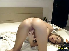 Romanian Blonde Jennifer in White Bikini