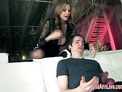 Julia Ann Makes Boy Toy Cum on His Face!