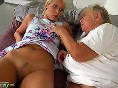 Old lesbian grandma masturbating pussy