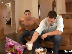 Hot gay gets fucked and cummed