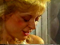 Vintage lesbians licking pussy in a hot shower