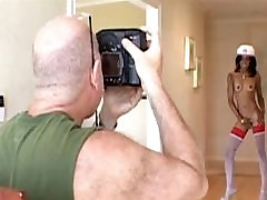 Photoshooting with sexy ebonies
