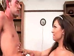 Shemale fucks guy in the library