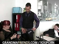 Office xxx www vidoe enjoys two cocks