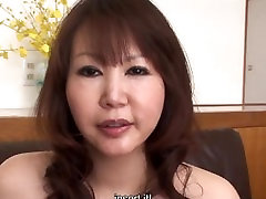 Hot Japanese MILF with bitch piss old bounce rides a hard cock