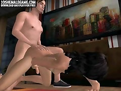 Sexy 3D bellum com tranny babe gets anally fucked