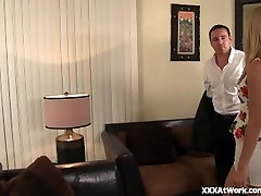 Hot Secretary Squirts For Her Boss!