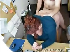 Real amateur secretary fuck on table