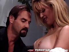 Slut nurse fucks a cop in her work lounge