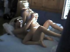 Hidden cam on young teen couple home sex 1
