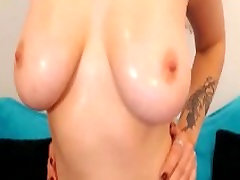 Perfect natural tits on a slutty blonde