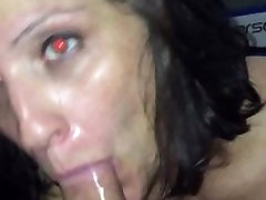 Hot brunette finishing me off... The house wife saree cocksucker Ive ever had...