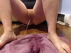 Close Up Pee All Over Pink Towel