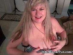 BBW milf Love Goddess rubs her rachel is with her girls clit