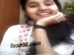 Indian village girl showing boobs over skype to her boyfriend - www.teen99.com