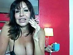 French hog cuffed naked slow cuck mom on Webcam
