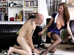 Classy british mature pussylicked before sex