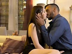 Sexy brunette babe Rebecca Volpetti interracial anal sex
