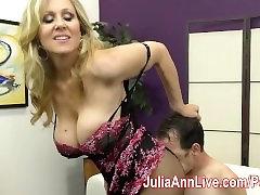 Milf Julia Ann Makes symbian wet Cum on Her Stockings from FootJob!
