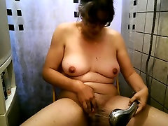 Alexandra playing and bathing with her monsterclit