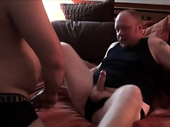 Chubby bedroom banging rimming ass before barebacking