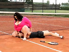 BBW asian solo brutal won in tennis game claiming her price outdoor sex