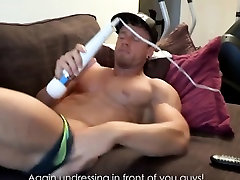 Bodybuilder loves to striptease