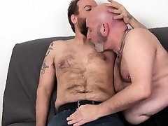Bald mature mom tit cum analfucked after rimjob