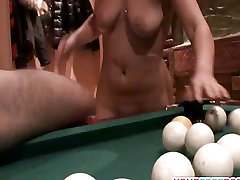 mistress porny foot slave Brunette is back for Pool Table Fuck