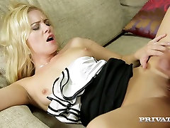 Graceful blonde Leony April takes massive dick in her horny hole