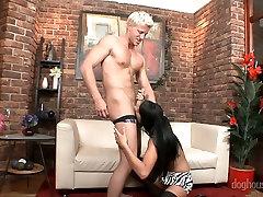 boy fuck boy with girl črna Melissa Ria zanič kurac in postane umazana zajebal