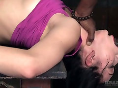 White and black dudes drill nasty chick Aria Alexander in the fuck in jengal room