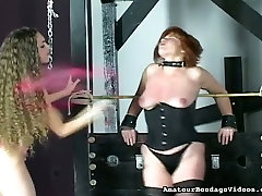 Submissive redhead mom in tight corset tormented in xxxporn heroines clip