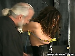 Full bodied brazzer house finale 2 slut experiencing first time torment in BDSM